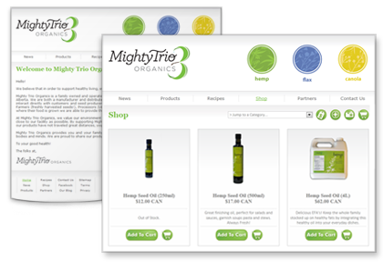 Mighty Trio | Website Design, eCommerce, Photography.