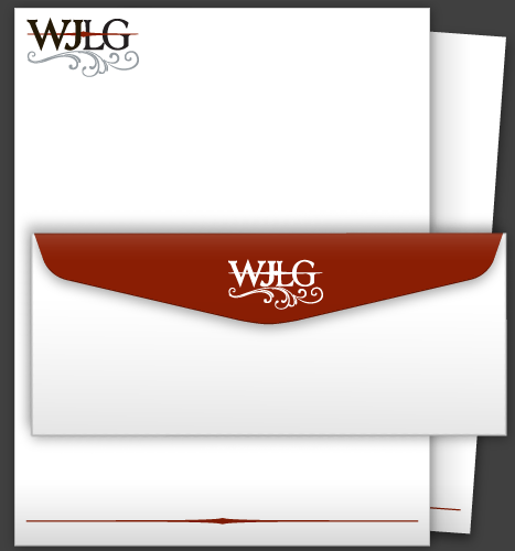 Illustration & Print: Wilson Jeon Law Group Letterhead (Page 2) and Envelope
